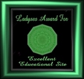 Ladyses Award For Excellent Educational Site