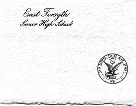 Front cover of an invitation to East Forsyth's 1979 graduation