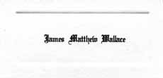 James Matthew Wallace's calling card from an invitation to East Forsyth's 1979 graduation
